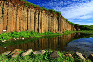 Basalt columns on the Penghu Islands